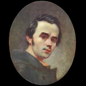 Фото Т. Г. Шевченко для изготовления портрета из янтаря. Автопортрет 1840/1841 г.